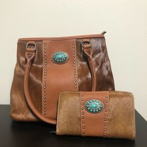 Handbags - Leather bag and wallet